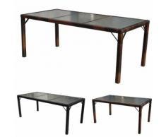 Poly-Rattan Gartentisch Ariana, Tisch Esszimmertisch, 150x90cm Glas ~ Variantenangebot
