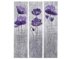 Ölgemälde Lila Blumen, 100% handgemaltes Wandbild Gemälde XL, 120x90cm ~ Variantenangebot