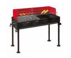 Barbecue- Holzkohlegrill, 2 Grillroste, 1 Grillpfanne, 70x31x92 cm ~ Variantenangebot