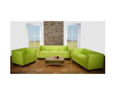 3-2-1 Sofagarnitur Couchgarnitur Loungesofa Lille, Kunstleder ~ Variantenangebot
