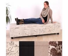 Aufbewahrungs-Truhe Sitzbank Bank Kriens XXL, Textil 180x45x45cm ~ Variantenangebot