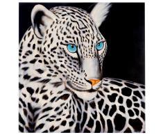 Wandbild Weißer Leopard, 100% handgemaltes Ölgemälde Gemälde XL ~ Variantenangebot