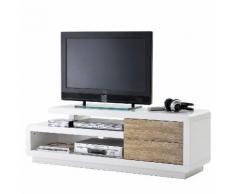 MCA TV-Rack Cosima, Lowboard Fernsehtisch mit Schubladen, hochglanz weiß 45x142x40cm ~ Variantenangebot