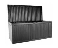 KISSENBOX Gartentruhe Truhe Gartenbox|330L|120x52x54cm|Kunststoff|anthrazit