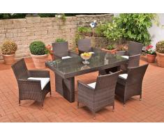 Sitzgruppe, Sitzgarnitur, Gartengarnitur Avignon, Polyrattan ~ Variantenangebot