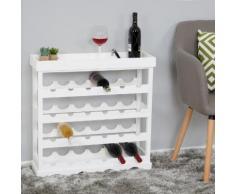 Weinregal Sevilla, Flaschenregal Flaschenständer für 24 Flaschen, Shabby-Look 25x70x70cm ~ Variantenangebot