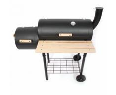 Barbecue-Smoker Standgrill Holzkohle-Grill Grillwagen, 110x56x108 cm ~ Variantenangebot
