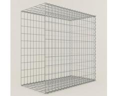 Anbau-Gabione Typ2 Steinkorb 100 x 100 x 60 cm, Maschenweite 5 x 10 cm, Gabionen