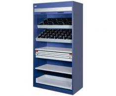 CNC-Rolladenschrank 58xHSK/A50-63 grau/blau