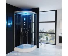 TroniTechnik Duschtempel Fertigdusche Duschkabine Dusche Glasdusche Eckdusche Komplettdusche S100Xc1
