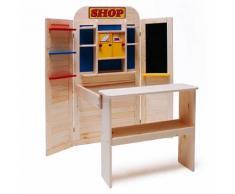 Eichhorn Kinder Spielzeug Holz Kinderkaufladen Kaufladen bewegliche Türen Tafel