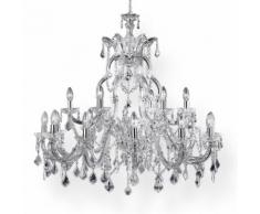 Edler Design Kristall Kronleuchter 18flammig Lüster Filament Marie Theresa chrom