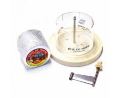 Girolle Original Schweiz Käsehobel mit Haube ganzer Laib Tete de Moine Käse Classic