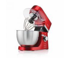 Arzum Crust Mix Küchenmaschine Standmixer 4,5 Liter Edelstahl 700Watt Teigkneter Schneebesen Rot