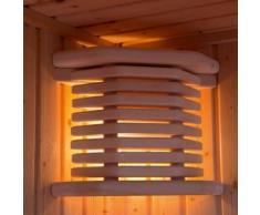 Exklusiv-Massivholz-Sauna-Eckleuchte Inari Blendschirm und Innenleuchte