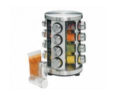 1 Gewürzständer, rund, Edelstahl/Glas, leer Aktion Küchenprofi*