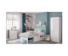 Polini Kids Kinderzimmer Jugendzimmer Set 3-tlg. Bett Schrank Kommode
