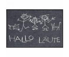 Salonloewe Fußmatte waschbar Hallo Läute 50x75 cm SLD0107-050x075