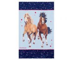 Kinderteppich- Pferdefreunde beim galoppieren in Zwei Größen Mädchen- Teppich
