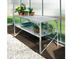Pflanztisch (2 Ebenen) für Gewächshäuser, aluminium eloxiert, 120 x 52 x 76 cm