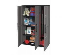 Kunststoffschrank Werkstattschrank Lagerschrank Gartenschrank hoch mit Besenfach