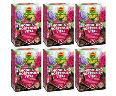 6 x 1kg Compo Rhodo- und Hortensien Vital Moorbeetpflanzen NPK-Dünger