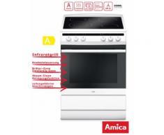 Standherd 60cm Elektro Weiß Backofen Grill Heißluft Amica SHC 11662 W