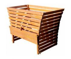 Großer Holz Komposter 1140 Liter Volumen extrem Stablil aus Lärche 145x80cm von As-S