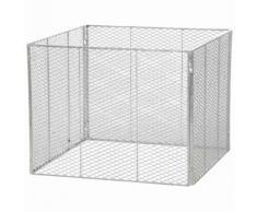 Brista 001120 Komposter, Maße: 100x100x80cm feuerverzinkt, 4-teilig, Streckmetall