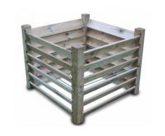 Komposter Brettkomposter aus Holz 100x100x80 cm - ca. 650 L