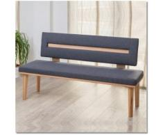 Sitzbank Lydia 140 cm breit, Massiv Buche oder Wildeiche, gepolstert mit Kunstleder oder Polsterstof
