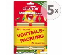 5 x 40 Celaflor Schädlingsfrei Careo Combi-Stäbchen 2in1 Schutz & Dünger