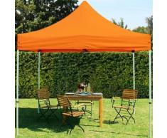 Faltpavillon 3x3m PES 350 g/m² orange wasserdicht Faltzelt, Klappzelt