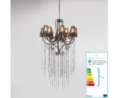 Kare Design Kronleuchter Glitter mit 10 Lampenschirmen
