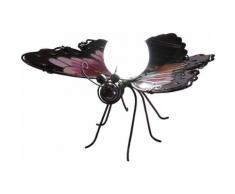 Solar-Dekoleuchte Schmetterling violett