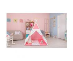 Polini Kids Tipi Spielzelt für Kinder Baumwolle mit Tasche rosa, 1434-2