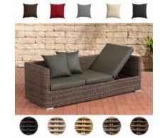Poly-Rattan Lounge-Sofa Solano 5 mm, ALU-Gestell, 3 er Sofa / Sonnenliege