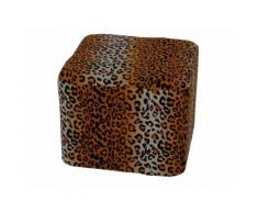 Sitzkissen Sitzwürfel Pouf Hocker Bodenkissen Leopard Viereck