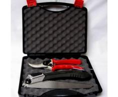 Gartenschere (Bypass-Technik) Klappsäge inkl. Aufbewahrungsbox - Garten Werkzeug Set