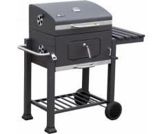 EL Fuego Holzkohlegrill Grillwagen Ontario Grill BBQ fahrbar Stahl Ay372 NEU