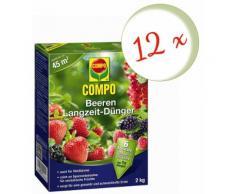 Oleanderhof® Sparset: 12 x Compo Beeren Langzeit-Dünger, 2 kg + gratis Oleanderhof Flyer