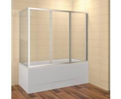Duschabtrennung Badewanne 150 cm Badewannenaufsatz 150x135 cm (LxH) Duschkabine Badewanne 3-teilig E