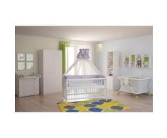 Polini Kids Babyzimmer Kinderzimmer komplett Set weiß 4-teilig