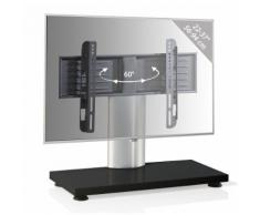 VCM LCD TV Ständer Fernsehtisch Standfuss Glas Standfuß Halterung höhenverstellbar Fernsehstand LED