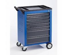 Quipo Werkzeugwagen - 7 Schubladen mit Einzelarretierung - HxBxT 930 x 630 x 410 mm, blau -