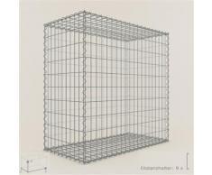 Anbau-Gabione Typ3 Steinkorb 100 x 100 x 90 cm, Maschenweite 5 x 10 cm, Gabionen