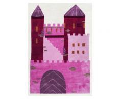 Kinderteppich- Schloß in Pink 120 x 180 cm für alle Prinzessinen, Kinderzimmer