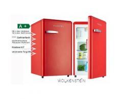 Retro Kühlschrank mit Gefrierfach Feuer Rot Glanz A+ Ks95Rt FR Wolkenstein