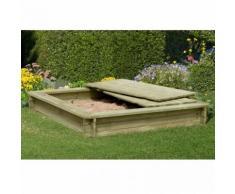Sandkasten Stabil mit Deckel 1,8 x1,8 aus Holz 30 mm