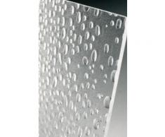 Eckdusche Schiebetüren 90x90x185 cm (LxBxH), 4-teilig, Echtglas, Silber Matt